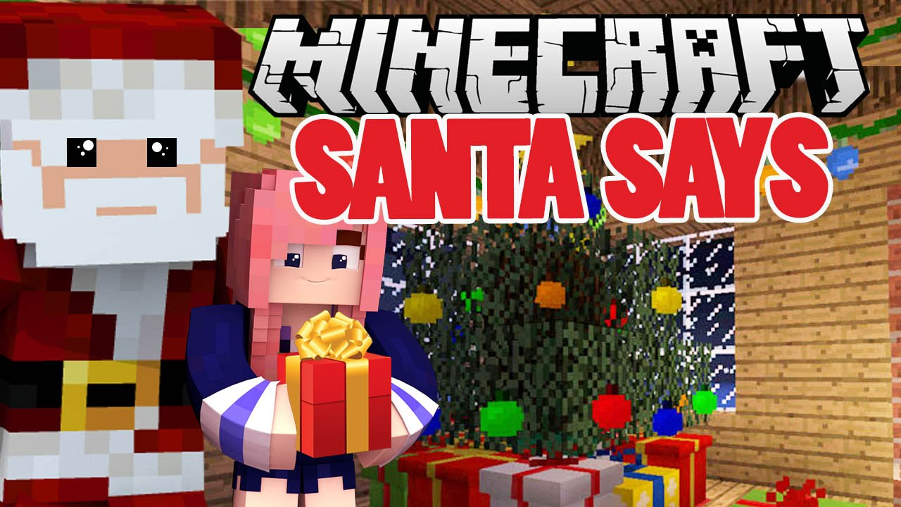 Christmas Minecraft Santa.Santa Says Christmas Minecraft Minigame