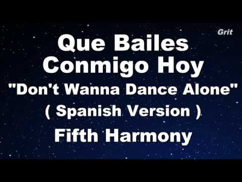 Que Bailes Conmigo Hoy - Fifth Harmony Karaoke 【With Guide Melody】 Instrumental