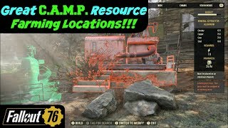 Fallout 76: Great C.A.M.P. Resource Farming Locations!
