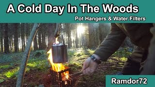 A Cold Day In The Woods - Pot Hangers and Water Filters