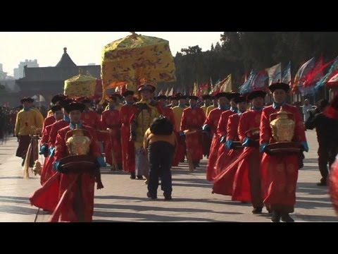 Elaborate new year ceremony at Beijing's Temple of Heaven