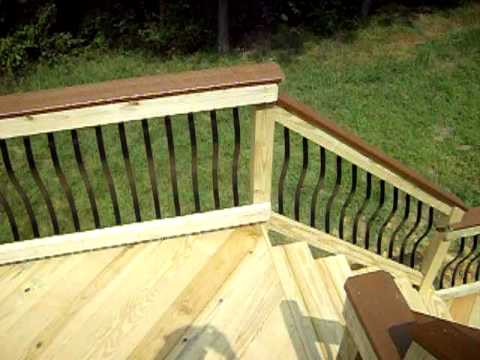 Wood Deck With Baroque Deckorator Pickets Video Youtube