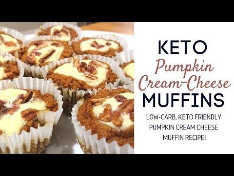 KETO RECIPES | How To Make Keto Pumpkin Cream Cheese Muffins