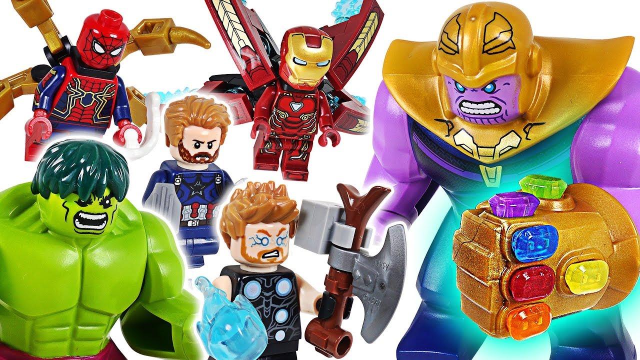 Marvel Lego Infinity War Avengers Hulk, Iron Man, Spider Man! Go! Defeat the Thanos! - DuDuPopTOY