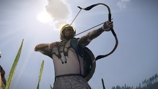 Тест лучников: Восточный лучники, Элитные персидские лучники,  Галльские охотники