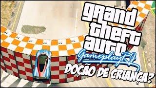GTA V - DOCE DE CRIANÇA GIGANTE, show do CU e ROCKSTAR DO CAPETA