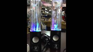Dancing Water LED Music Fountain Light Speakers For ,iphone , ipad , Laptop, & more