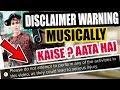 DISCLAIMER WARNING MUSICALLY TIK TOK TUTORIAL | DISCLAIMER KAISE AATA HAI MUSICALLY MAI  | WARNING