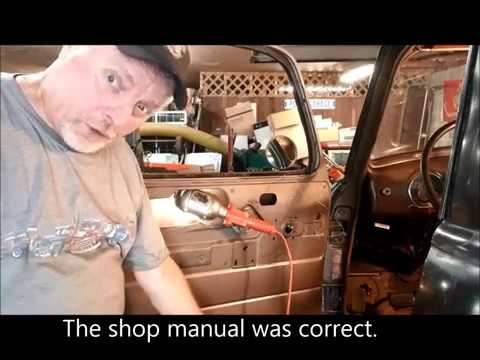Replacing And Installing The Window Regulator In A 1949 Chevy 3100 Youtube