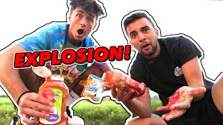 This Science Experiment Was a BAD IDEA... (Ketchup Bomb Prank)