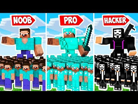 Minecraft Noob Vs Pro: ARMY BATTLE FOR ONE LOVE In MINECRAFT Animation