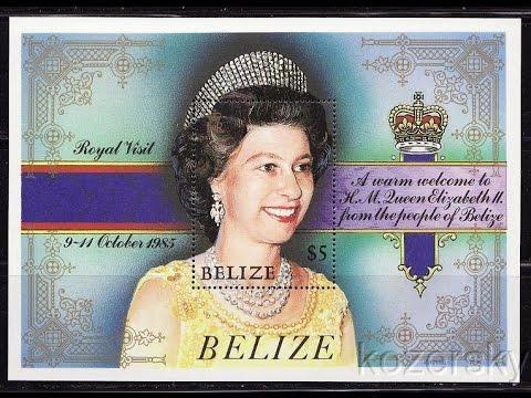 Rainha Elizabeth II visita Belize em 1985