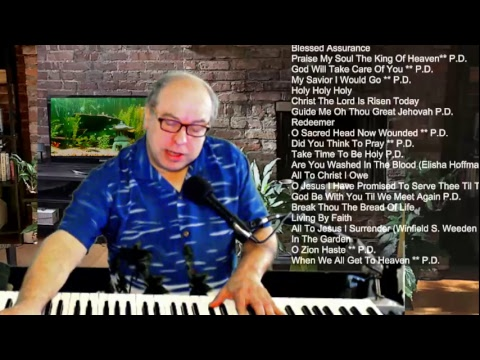 Lunch Hour Piano Hymns Requests from list