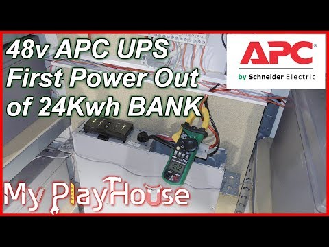 APC UPS Working with 24Kwh 48Volt Home Power Bank - 613