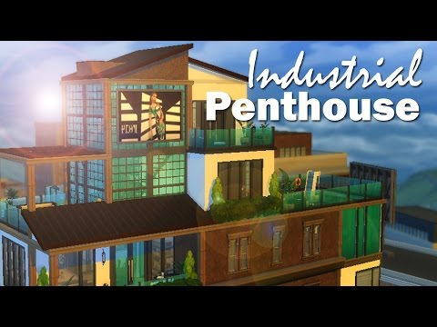 The Sims 4 | Speed Build: Industrial Penthouse
