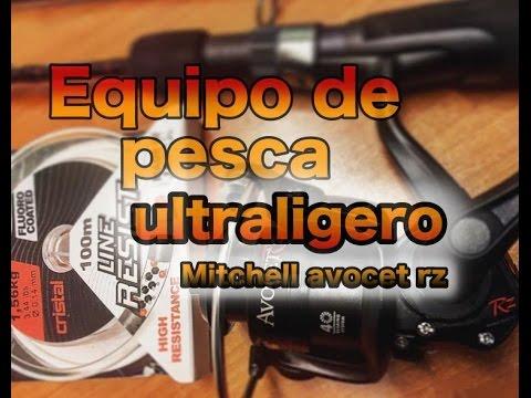 pesca spinining ultraligero (ultralight fishing) mitchell avocet rz