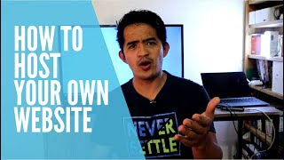 How to host y๐ur own Website from home