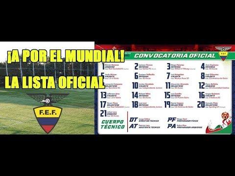 👉LISTA DE CONVOCADOS ECUADOR SUB 20 PARA EL MUNDIAL DE POLONIA