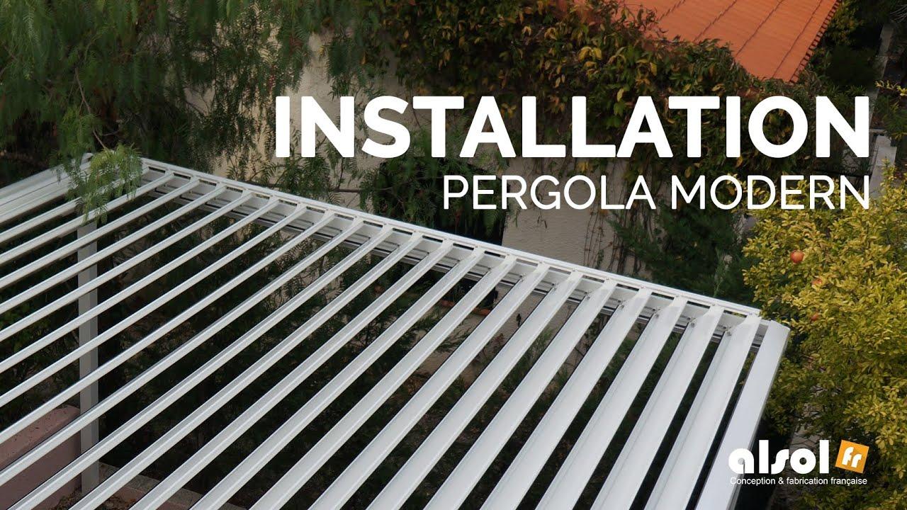 Pergola Bioclimatique Retractable Avis installation d'une pergola bioclimatique modern