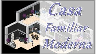 Casa Familiar Moderna / Modern Home ~ Habbo tutorial