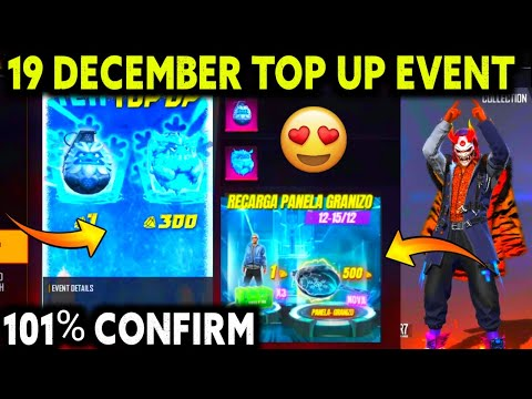 19 December Top Up Event Upcoming Topup Event Free Fire