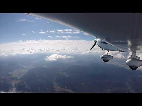 Flying my EV97 UK Eurostar from Spišská Nová Ves, Slovakia to Spitzberger, Austria