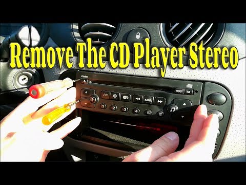 How To Remove The Stereo In A Citroen C1 C2 C3 Peugeot 208