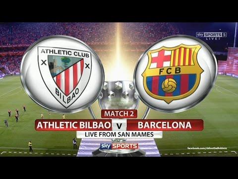 Athletic Bilbao VS Barcelona Copa del Rey LIVE - YouTube