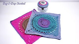 HOW TO #CROCHET A GRANNY SQUARE | CIRCLES OF TIME 14