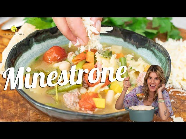 Minestrone | köstliche italienische Gemüsesuppe | Felicitas Then