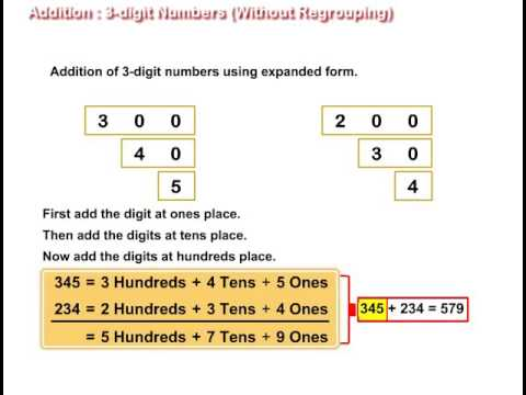 Addition with 2- and 3-digit Numbers Educational Videos ...
