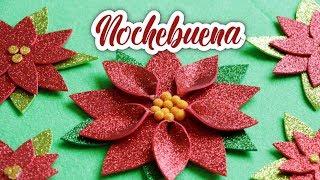 🎄 Nochebuena De Fomi 🎄 Como Hacer Una Flor De Nochebuena 🎄 Ideas Y Decoración Para Navidad 🎄