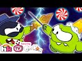 OM NOM WAR Om Nom Thief vs Om Nom King Cut The Rope Funny Cartoons for Kids HooplaKidzTV