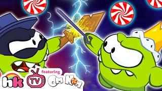 OM NOM WAR! Om Nom Thief vs Om Nom King | Cut The Rope | Funny Cartoons for Kids | HooplaKidzTV