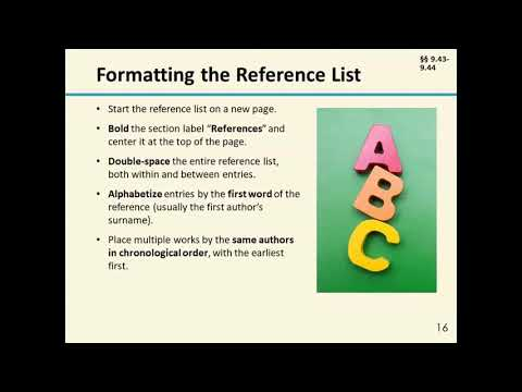 Creating References Using Seventh Edition APA Style