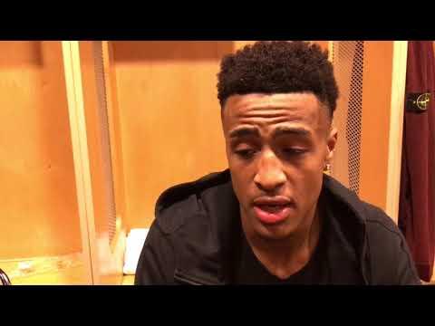 Hawks React In Locker Room To Season-Opening Win