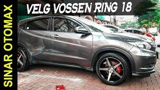 Modifikasi Honda HRV Pakai Velg Mobil VOSSEN Ring 18 Black Machine Face