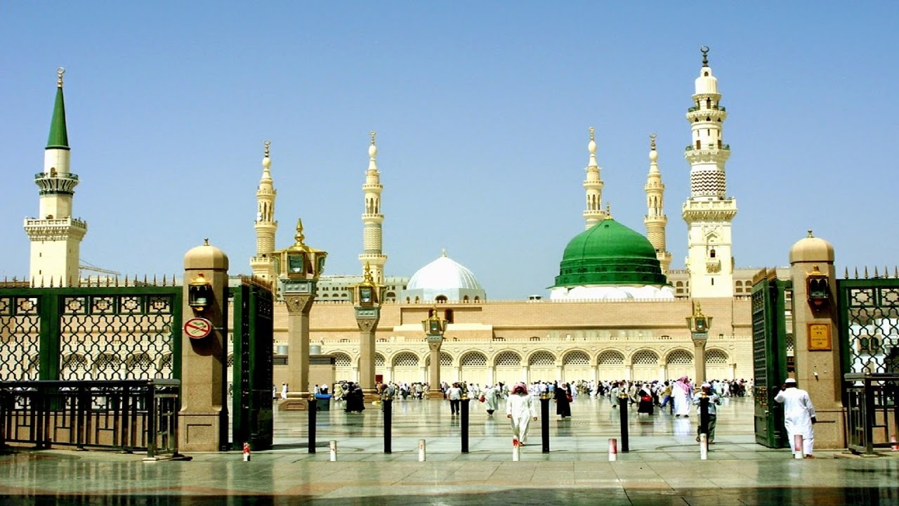 madina shareef complete view roads buildings interiors shops market