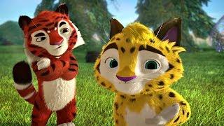 Лео и Тиг сборник серий с 10 по 12 | Детям про животных | Мультфильм HD