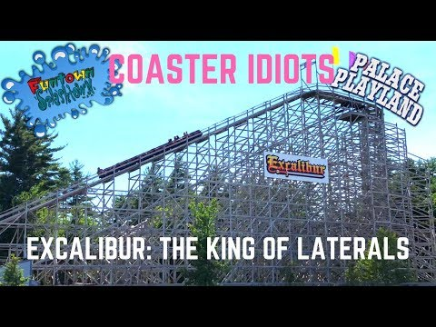 Coaster Idiots Ride Excalibur @ Funtown (The King Of Laterals!!)