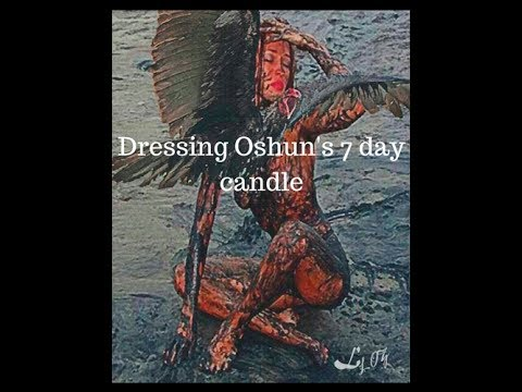 Oshun: ingredients I use to dress my candles