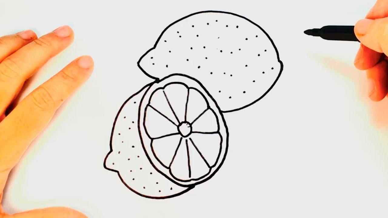 Cómo Dibujar Un Limón Paso A Paso Dibujo Fácil De Limón Youtube