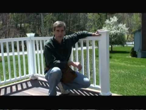 How To Install Composite Deck Railing Video Youtube