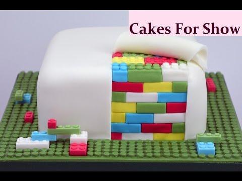 Making A Lego Cake Youtube