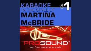 A Broken Wing (Karaoke Instrumental Track) (In the style of Martina McBride)