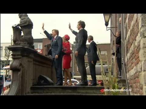 Koning Willem-Alexander en koningin Máxima bezoeken Zeeland
