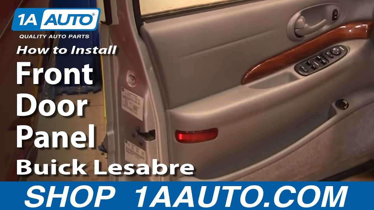 hight resolution of how to install remove front door panel buick lesabre 00 05 1aauto com