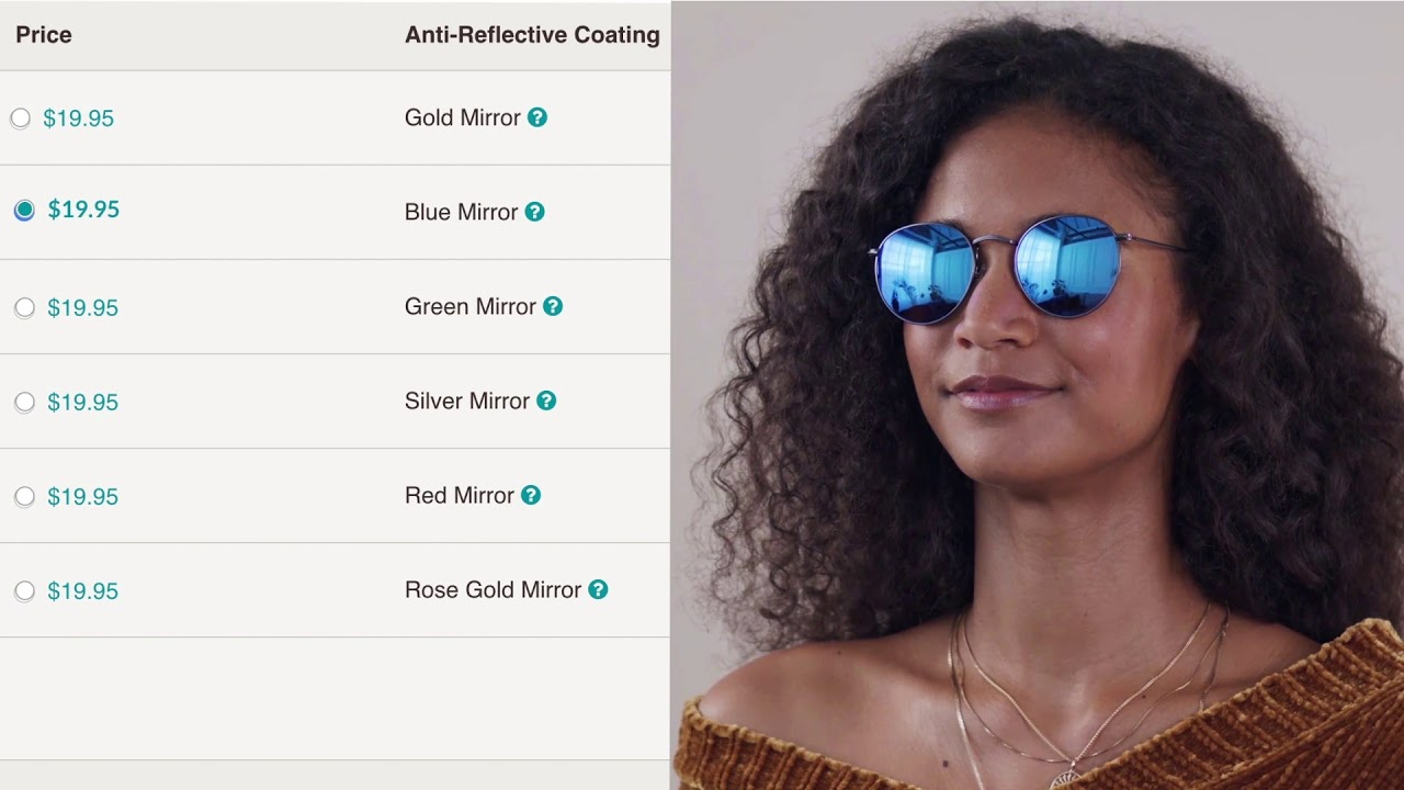28888ad5d0ebf How-to Order Mirrored Tints on Zenni - YouTube