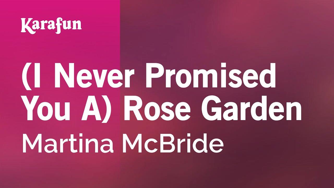 Karaoke I Never Promised You A Rose Garden Martina Mcbride Youtube