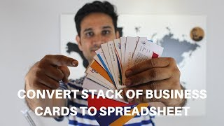 Convert Stack of Business Cards With CamCard App | Instant Save screenshot 3